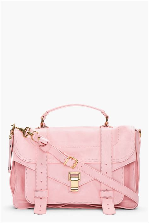 Proenza Pink by Proenza Schouler Piglet Pink Leather Foldover Ps1