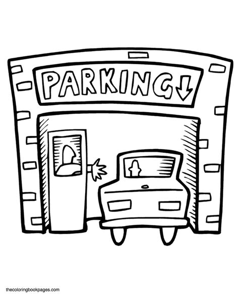 Car Garage Coloring Page | parking garage coloring page patterns coloring pages