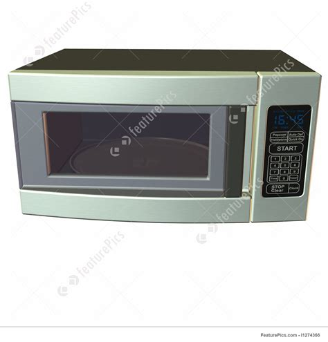 Microwave Oven Ur 1807 3d microwave oven illustration