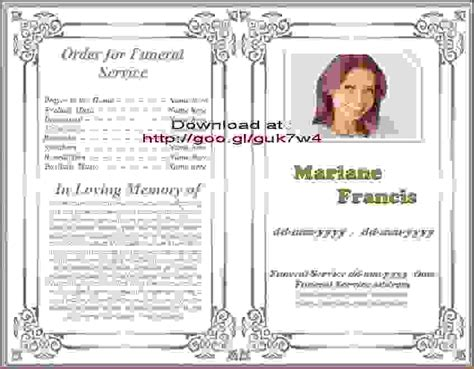 free obituary templates for microsoft word 8 obituary template for microsoft wordagenda template