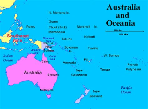 australia and oceania map map of australia and oceania my