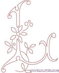 monogram for embroidery letter l needlenthread