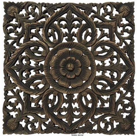 carved wood wall plaques unique floral wood wall asiana home decor