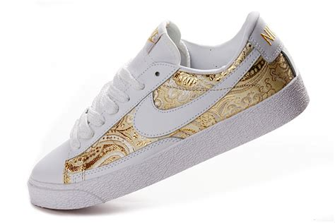 nike sneaker shoes gold white from fu peng laser