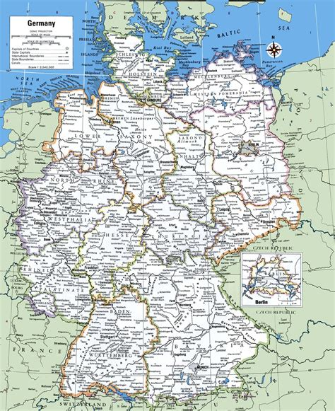 printable map of printable map of germany with cities and towns printable