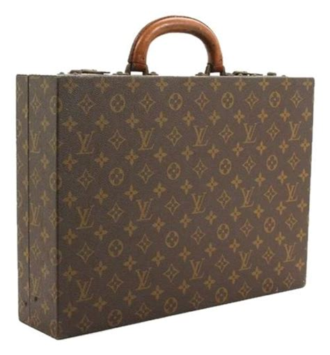 louis vuitton vintage monogram president briefcase laptop