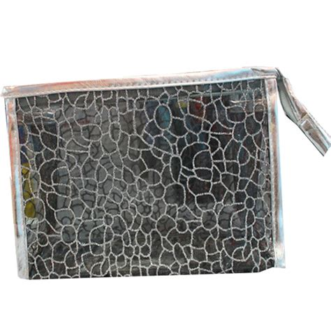 Mono Color Vnc Cosmetic Pouch mesh and poly mesh images