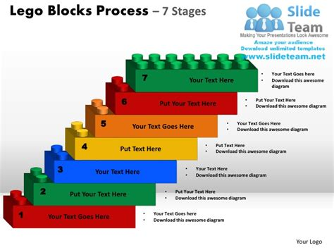 process powerpoint template lego blocks process 7 stages powerpoint slides ppt templates