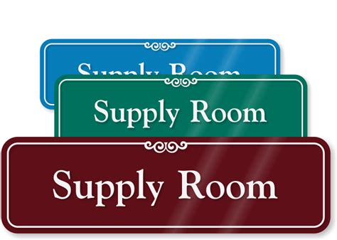 supply room 3 in x 10 in supply room sign sku se 2424