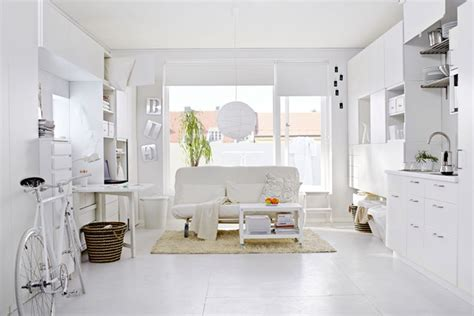 tiny apartment inspiration ikea s white room small spaces small room decorating