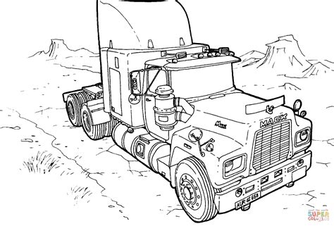 coloring pages cars mack truck mack coloring page free printable coloring pages
