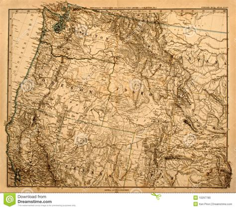 pacific northwest map usa map of america s pacific northwest stock photo