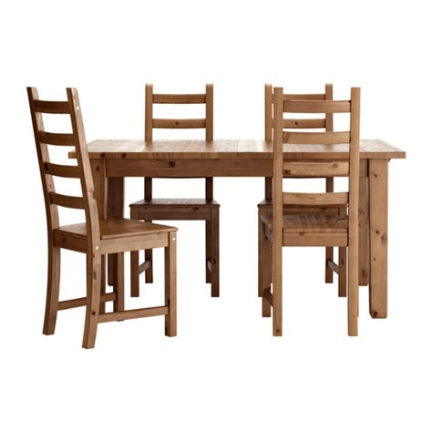 storn 196 s kaustby table and 4 chairs antique stain ikea