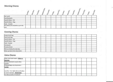 allowance chart template 28 images chore chart stuff