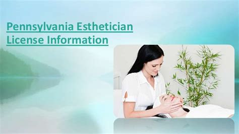 pennsylvania esthetician license information