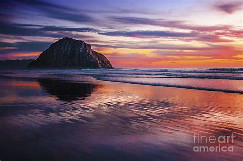 Cape Cod Home Plans Vibrant Reflections Of Sunset On Morro Bay Beach Sand
