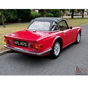 1969 TRIUMPH TR6 RED