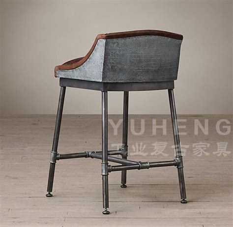 Iron Pipe Bar Stool by American Coffee Industry Leather Bar Chairs Chair Stool