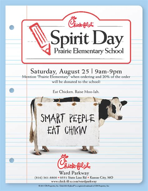 How To Check Chick Fil A Gift Card Balance - chick fil a spirit day prairie elementary pta
