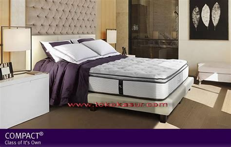 Serta Bed Satu Set Compact 200x200 harga kasur bed murah disc up to 50 20