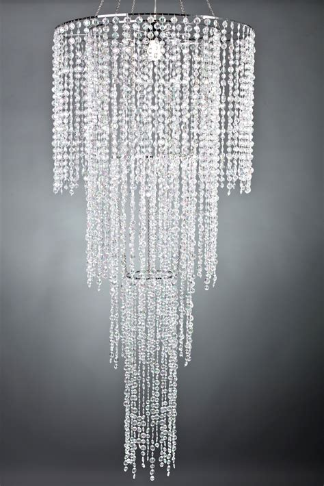 Acrylic Chandelier Large 4 Tier Acrylic Chandelier Tent Lighting And Chandeliers 6 Foot Sparkly