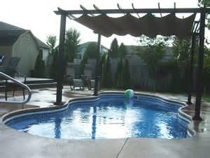 retractable awning pool tiki land