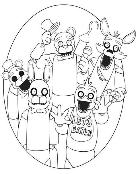 five nights at freddy s coloring book and puzzle for coloring activities book book puzzle books freddy five nights at freddys free colouring pages