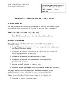 microsoft word sop recruitment of participants