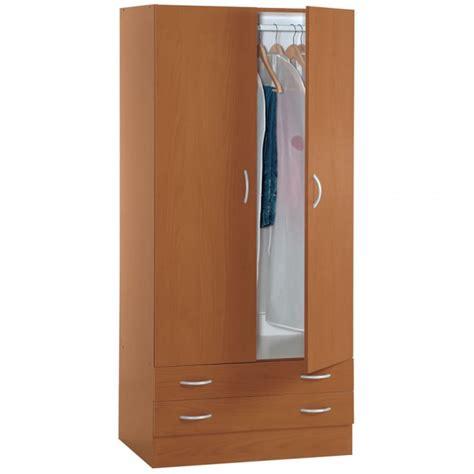 armadio due ante economico armadio 2 ante e 2 cassetti colore ciliegio emporiokit it