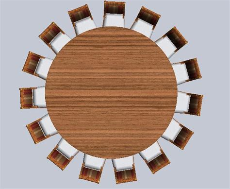 High Quality Dining Room Furniture oversized 9 foot round dining table