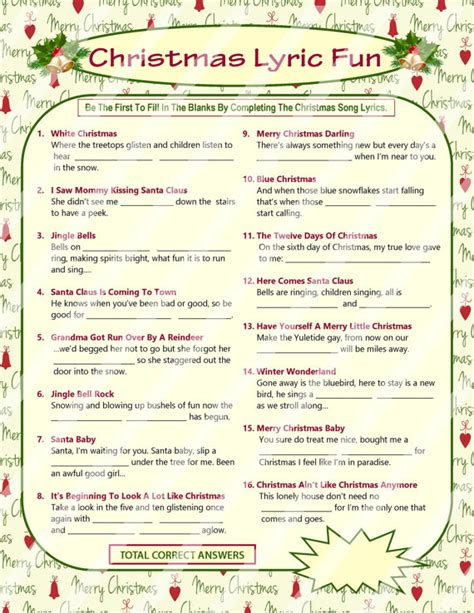 printable christmas music games christmas games and other fun activities the holiday