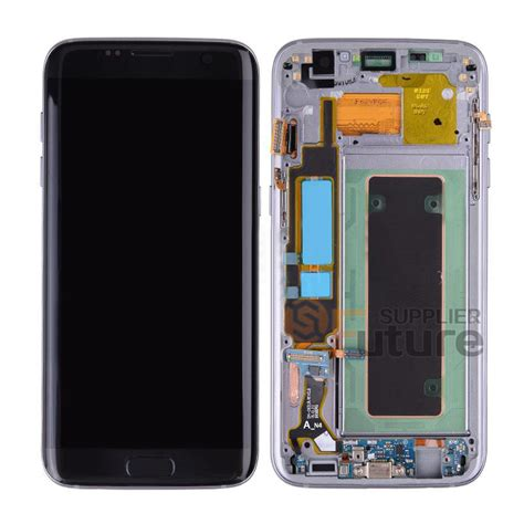 Lcd Samsung S7 Edge Black samsung s7 edge sm g935a lcd assembly with front frame black
