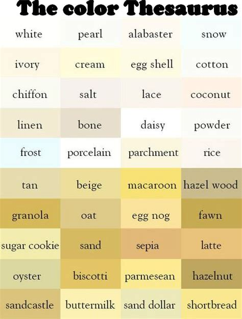 white color names 63 best colour thesaurus and words images on