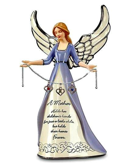 Angel Figfor Mom With Childrens Birthstones