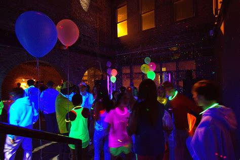 themed college parties black light college party guru