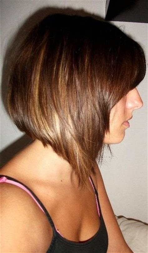 hairstyles with graduated sides side view of graduated bob hairstyle short haircut for