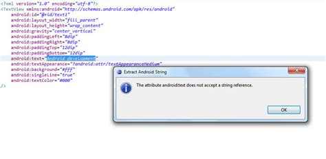 extract layout xml from apk android extract string resource from layout xml file