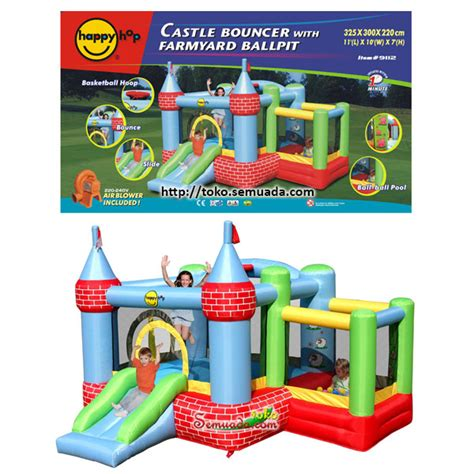 Quality Happy Hop Castle Bouncer 9112 jual happy hop castle bouncer with farmyard ballpit