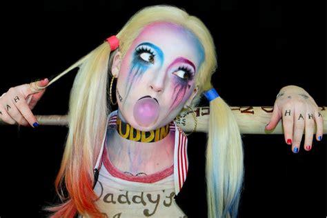 harley quinn youtube makeup diy popsugar beauty australia