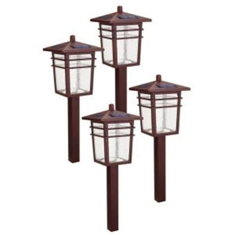 hton bay solar square mission led bronze outdoor