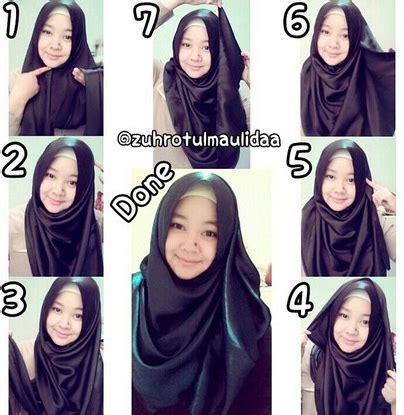 tutorial jilbab pashmina satin simple aneka tutorial cara memakai jilbab modern bahan satin