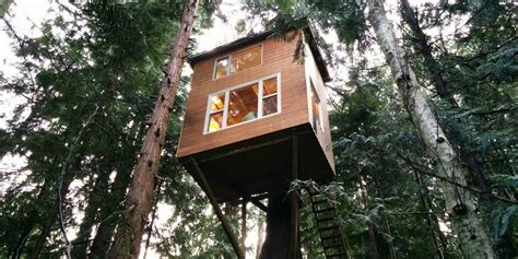 Small Homes For Sale On Vancouver Island Tiny House Treehouse In Pender Island Is Stability For Owner