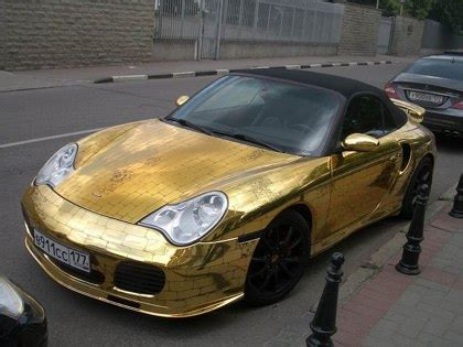 Goldener Porsche by The Golden Porsche English Russia