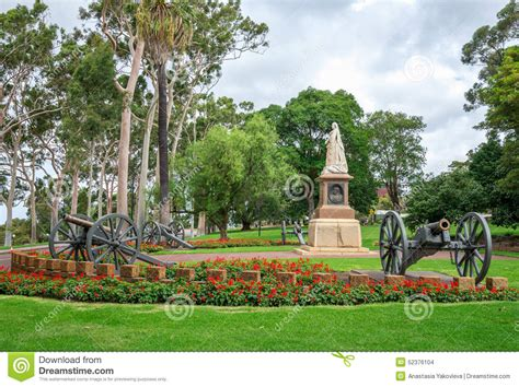 Botanical Garden Perth A Statue Of In Park And Botanical Gardens In Perth Stock Photo Image