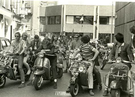 the mods mods on scooters in 1979 vintage everyday