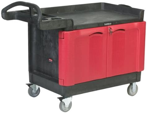 rubbermaid service cart with cabinet rubbermaid trademaster structural foam service cart with 2