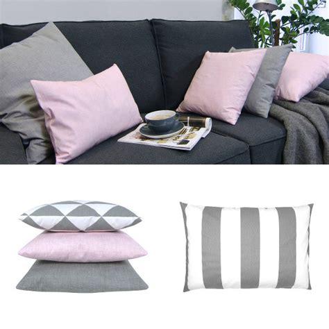 kissenbezug grau rosa kissen kissenbezug kissenh 252 lle fynn rosa wei 223 grafisch