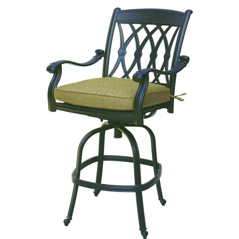 Patio Bar Stools by Darlee San Marcos Cast Aluminum Counter Height Patio Bar