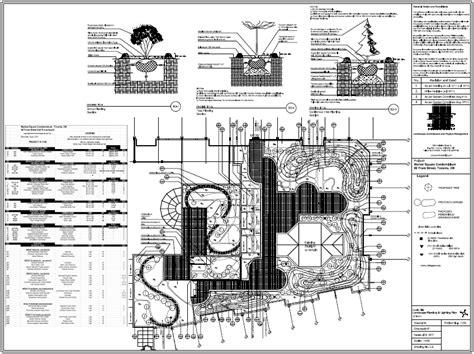 Landscape Architecture Specifications Landscape Detail Drawings