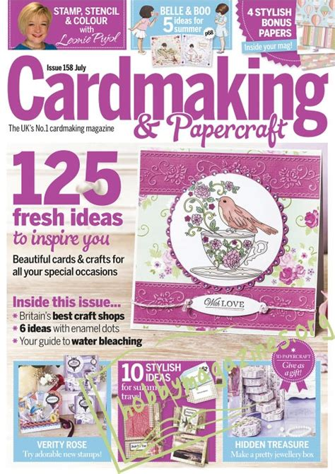 Cardmaking And Papercraft Back Issues - cardmaking papercraft july 2016 187 hobby magazines